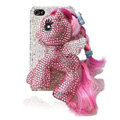 Swarovski Bling crystal Cases Pony Horse Luxury diamond covers for iPhone 5S - Pink