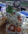 Swarovski crystal case Bling Hello kitty diamond cover for iPhone 5S - Red