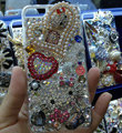 Swarovski crystal case Bling Hello kitty diamond pearl cover for iPhone 5S - Rose