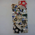 Swarovski crystal cases Bling Beetle diamond cover for iPhone 5S - Black+Red