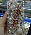 Swarovski crystal cases Bling Flowers diamond cover for iPhone 5S - Pink