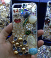 Swarovski crystal cases Bling Flowers diamond cover for iPhone 5S - White