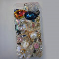 Swarovski crystal cases Bling Spider diamond cover for iPhone 5S - White