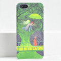 Ultrathin Matte Cases Lovers Hard Back Covers Skin for iPhone 5S - Green