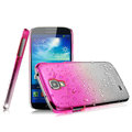 Imak Colorful raindrop Case Hard Cover for Samsung GALAXY NoteIII 3 - Gradient Rose (High transparent screen protector)