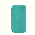 Nillkin leather Case Holster Cover Skin for Samsung GALAXY NoteIII 3 - Green (High transparent screen protector)