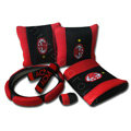 AC Milan Car Interior Set Auto Inner Decoration Synthetic Fiber 7pcs - Red