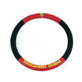 Manchester United Auto Car Steering Wheel Cover PU Leather Diameter 15 inch 38CM Sport - Red