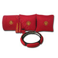 Manchester United Car Interior Set Auto Inner Decoration Synthetic Fiber 7pcs - Red