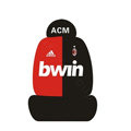 ACM bwin Universal Auto Car Seat Cover Set Cotton 10pcs - Red+Black
