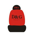 Dolce & Gabbana Universal Auto Car Seat Cover Set Cotton 10pcs - Red+Black