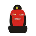 Ferrari Universal Auto Car Seat Cover Set Cotton 10pcs - Black+Red