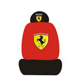 Ferrari Universal Auto Car Seat Cover Set Cotton 10pcs - Red+Black