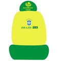 GERMANY BRAZIL Universal Auto Car Seat Cover Set Cotton 10pcs - Yellow+Green