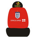 GERMANY ENGLAND Universal Auto Car Seat Cover Set Cotton 10pcs - Red+Black