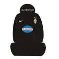 JUVENTUS TAMOIL Universal Auto Car Seat Cover Set Cotton 10pcs - Black