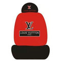 LV LOUIS VUITTON Universal Auto Car Seat Cover Set Cotton 10pcs - Red+Black