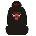NBA CHICAGO BULLS Universal Auto Car Seat Cover Set Cotton 10pcs - Black