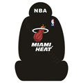 NBA MIAMI HEAT Universal Auto Car Seat Cover Set Cotton 10pcs - Black