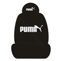 PUMA Universal Auto Car Seat Cover Set Cotton 10pcs - Black