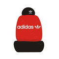 adidas Universal Auto Car Seat Cover Set Cotton 10pcs - Red+Black