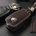 Nasili Buick Logo Automobile Key Bag Pocket Genuine Leather Car Key Case Holder Cover Key Chain - Brown