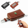 Nasili Skylight Landrover Logo Auto Key Bag Pocket Genuine Leather Car Key Case Holder Cover Key Chain - Brown