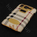 Burberry leather Case Hard Back Cover for HTC Desire HD A9191 G10 - Beige