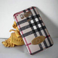 Burberry leather Case Hard Back Cover for HTC Touch HD2 - Beige