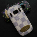 LV classic plaid leather Case Hard Back Cover for Nokia C7 C7-00 - Beige