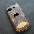LV leather Case Hard Back Cover for HTC Desire S G12 S510e - Brown