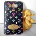 LV leather Case Hard Back Cover for HTC Touch HD2 - Black
