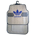 Adidas Logo Universal Automobile Carpet Car Floor Mats Set Rubber 5pcs Sets - Beige