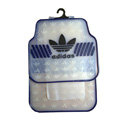 Adidas Logo Universal Automobile Carpet Car Floor Mats Set Rubber 5pcs Sets - Crystal