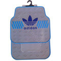 Adidas Logo Universal Automobile Carpet Car Floor Mats Set Rubber 5pcs Sets - Gray