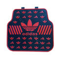 Adidas Logo Universal Automobile Carpet Car Floor Mats Set Rubber 5pcs Sets - Red