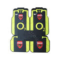 Arsenal Universal Automobile Carpet Car Floor Mats Set Natural Rubber+PVC 5pcs Sets - Black