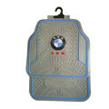 BMW Logo Universal Automobile Carpet Car Floor Mats Set Rubber 5pcs Sets - Beige Blue
