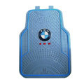 BMW Logo Universal Automobile Carpet Car Floor Mats Set Rubber 5pcs Sets - Blue