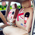 Cartoon Genuine MR ALI Universal Auto Car Seat Covers Velvet Full Set 10pcs - Beige
