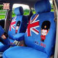 Cartoon Genuine MR ALI Universal Auto Car Seat Covers Velvet Full Set 10pcs - Blue