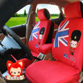 Cartoon Genuine MR ALI Universal Auto Car Seat Covers Velvet Full Set 10pcs - Red