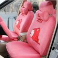 Cartoon Genuine MR ALI Universal Auto Car Seat Covers Velvet Full Set 18pcs - Pink