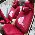 Cartoon Genuine MR ALI Universal Auto Car Seat Covers Velvet Full Set 18pcs - Rose