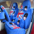 Cartoon Genuine MR ALI Universal Auto Car Seat Covers Velvet Full Set 22pcs - Blue