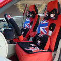 Cartoon Genuine MR ALI Universal Auto Car Seat Covers Velvet Full Set 22pcs - Red