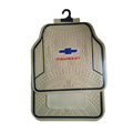 Chevrolet Logo Universal Automobile Carpet Car Floor Mats Set Rubber+PVC 5pcs Sets - Beige
