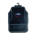 Chevrolet Logo Universal Automobile Carpet Car Floor Mats Set Rubber+PVC 5pcs Sets - Black