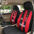 Futbol Club AC Milan Universal Auto Car Seat Cover Sandwich Full Set 12pcs - Red+Black