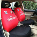 Futbol Club Arsenal Universal Auto Car Seat Cover Cotton Full Set 10pcs - Red+Black